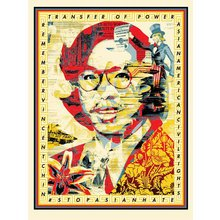 """Obey Giant """"In Honor Of Vincent Jen Chin"""" Signed Screen Print"""
