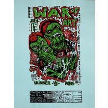 """Toyroom """"War Of Art"""" Show Poster - Aqua Paper"""