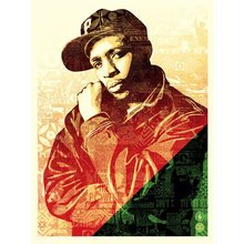 """Obey Giant """"Chuck D - Green/Red"""" Signed Screen Print"""