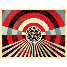 """Obey Giant """"Tunnel Vision - Blue"""" Signed Screen Print"""
