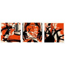 """Kinsey """"12 Inch Series II-Triptych"""" Signed Screen Prints"""