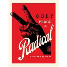 """Obey Giant """"Radical Peace - Red"""" Signed Screen Print"""