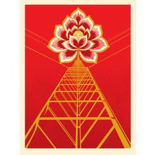 """Obey Giant """"Flower Power - Red"""" signed Screen Print"""