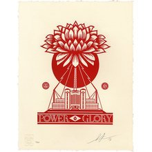"""Obey Giant """"Power Glory"""" Signed Letterpress"""