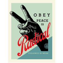 """Obey Giant """"Radical Peace - Blue"""" Signed Screen Print"""