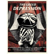 """Obey Giant """"Greed Depression"""" Signed Screen Print"""