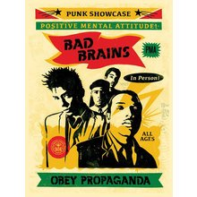 """Obey Giant """"Bad Brains '16"""" Signed Screen Print"""