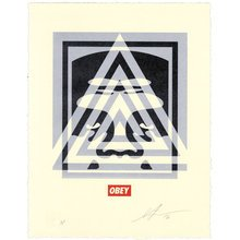 """Obey Giant """"Pyramid Top Icon"""" Signed Letterpress"""