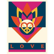 """Obey Giant """"Love Lotus"""" Signed Screen Print"""