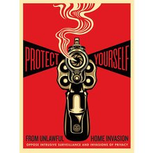 """Obey Giant """"Home Invasion - Red"""" Signed Screen Print"""