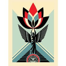 """Obey Giant """"Lotus Angel"""" Signed Screen Print"""