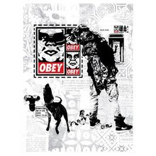 """Obey Giant """"WK Interact Flyer"""" Signed Screen Print"""