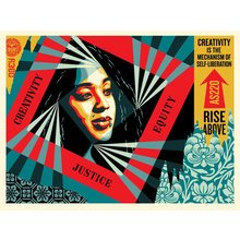 """Obey Giant """"Creativity, Equity, Justice"""" Signed Screen Print"""