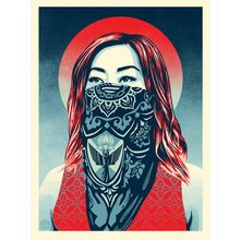 """Obey Giant """"Just Angels Rising"""" Signed Screen Print"""