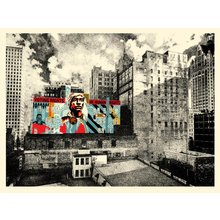 """Obey Giant """"Voting Rights Are Human Rights MKE Mural"""" Signed Screen Print"""