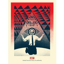 """Obey Giant """"Conformity Trance - Red"""" Signed Screen Print"""