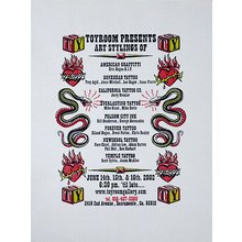 """Toyroom """"Tattoo Show"""" Poster - White Paper"""
