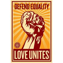 """Obey Giant """"Love Unites"""" Signed Large Format Screen Print"""