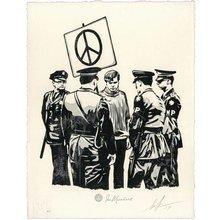 "Obey Giant ""Peaceful Protestor"" Signed Letterpress"