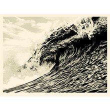 """Obey Giant """"Wave Of Distress - Sepia"""" Signed Screen Print"""