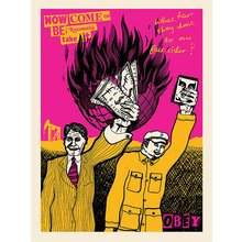 """Obey Giant """"Be Reasonable"""" Signed Screen Print"""