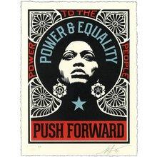 "Obey Giant ""Push Forward"" Signed Letterpress"