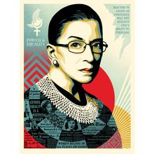 """Obey Giant """"A Champion Of Justice"""" (Ruth Bader Ginsburg) 24x36"""" Signed Screen Print"""