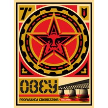 """Obey Giant """"20 Year Retro Series - Engineering"""" Signed, Large Format Screen Prints"""