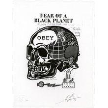 "Obey Giant ""Skull Of A Black Planet"" Signed Letterpress"