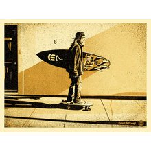 """Obey Giant """"Jeff Ho Zephyr - Gold"""" Signed Screen Print"""