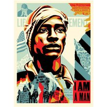 """Obey Giant """"Voting Rights Are Human Rights"""" Signed Screenprint"""