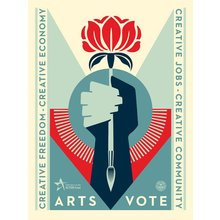 """Obey Giant """"Artsvote"""" Signed Screen Print"""