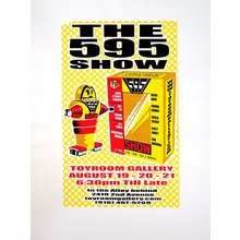 """Toyroom """"595"""" Show Poster - Yellow Variant"""