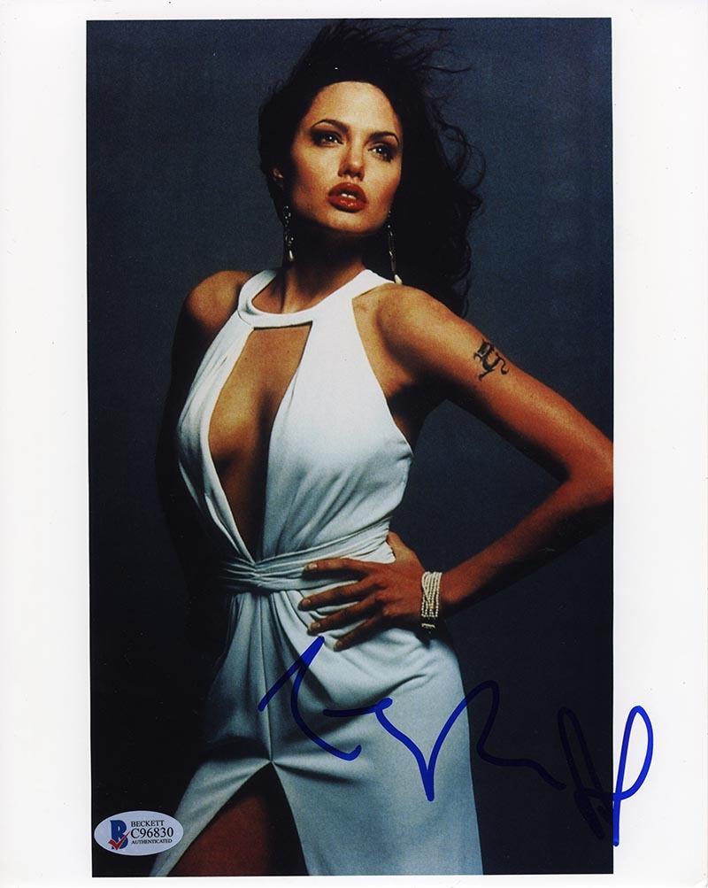 Angelina Jolie Sexy Pics angelina jolie sexy signed 8x10 photo certified authentic beckett bas coa