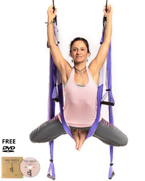 yoga trapeze purple with free dvd tutorials