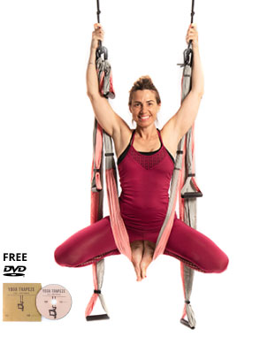 yoga trapeze pink with free dvd tutorials