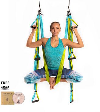 yoga trapeze aqua with free dvd tutorials